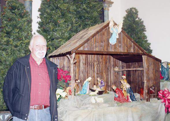 FRANCIS PELLA created this stable for the nativity scene at St. Mary's Catholic Church in St. Mary.