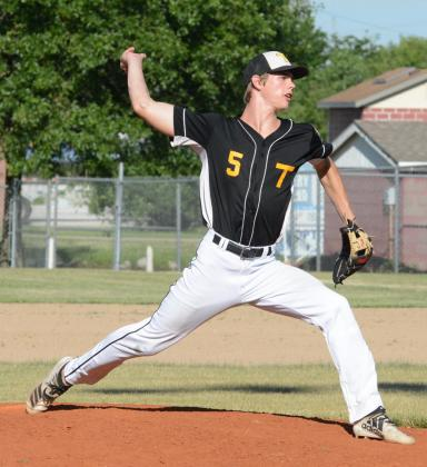 ELI WARING pitched all 7 innings in the opening round of the Southeast Nebraska Baseball Conference Senior tournament. He allowed 7 hits, 3 earned runs and 2 walks with 6 strikeouts. At bat Waring had 2 hits, scored a run and stole a base.